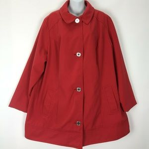 Avenue 22 24 Red Jacket Coat Womens Lined Pockets